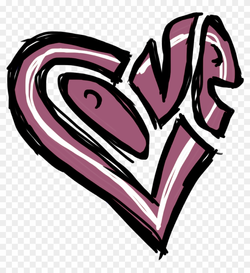Valentine S Day Clip Art Graffiti Heart Drawing Free Transparent