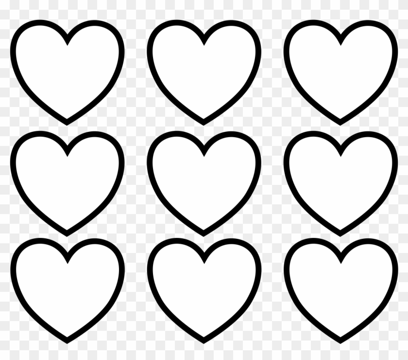 Sure Fire Valentine Hearts To Color Simplistic Images - Valentines Day Hearts Coloring Pages #79781