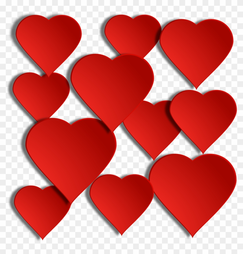 Valentines Day Hearts Floating Hearts Png Free Transparent Png