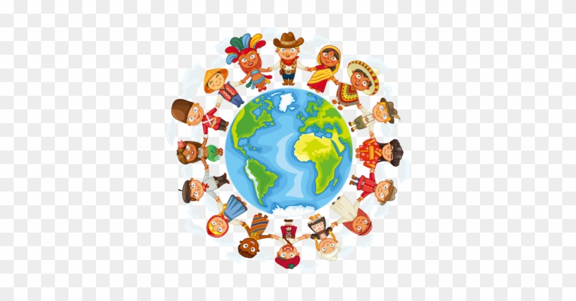 Child And Earth, Earth, Cartoons, Vectors Png And Vector - Geography In Primary Schools #79906
