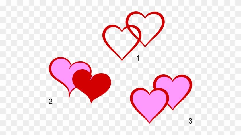 Double Hearts Clip Art Clipart - Heart Shapes Clip Art #79914