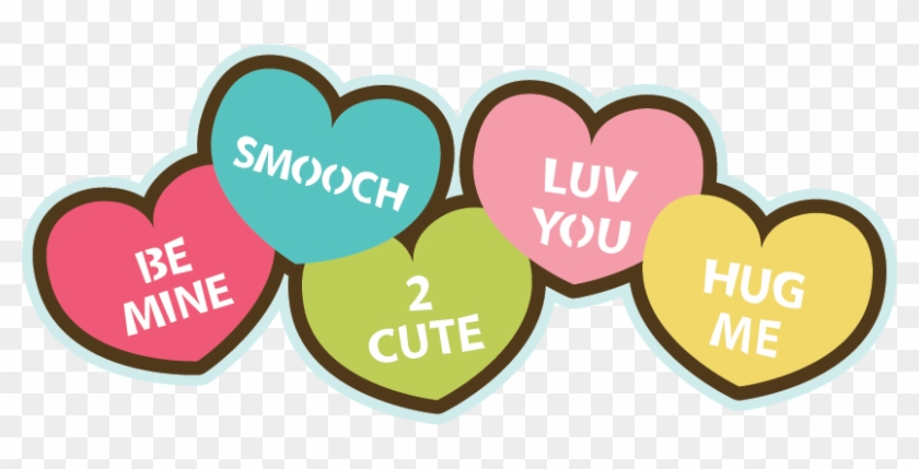 Search Clip Art Candy Hearts Svg File For Valentines Day