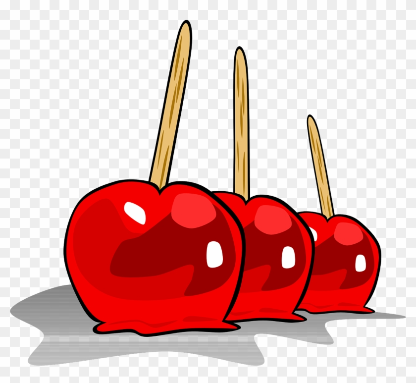 Valentine's Day Clipart Food - Toffee Apples Clip Art #80387
