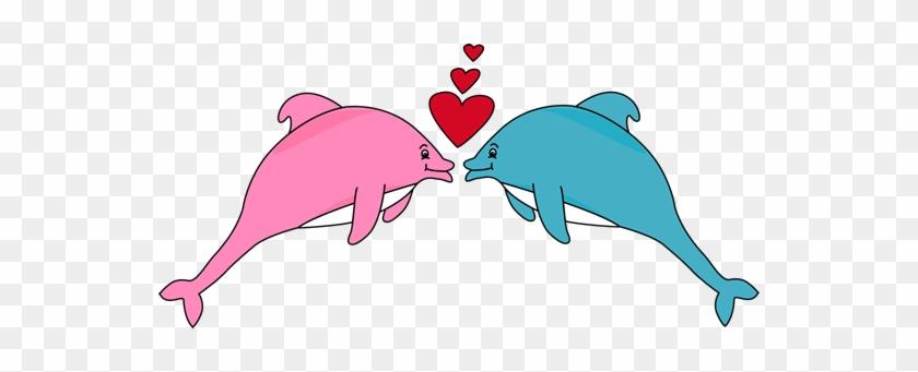 Valentine's Day Dolphins - Valentine Dolphin #80433