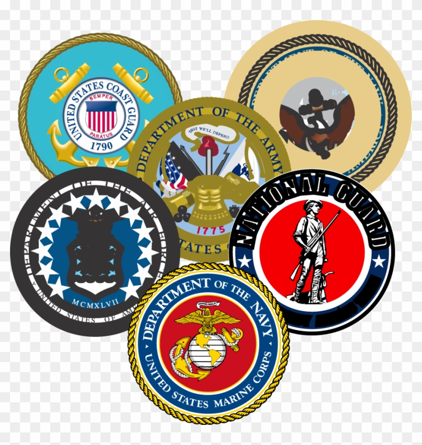 "Military Seals Grouped - My Son Is A Marine (4.25"" X 5.25"") Military Decal #80715"