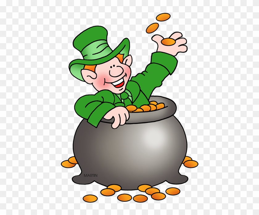 Leprechaun Gold - Leprechaun In The Gold Clip Art #80753