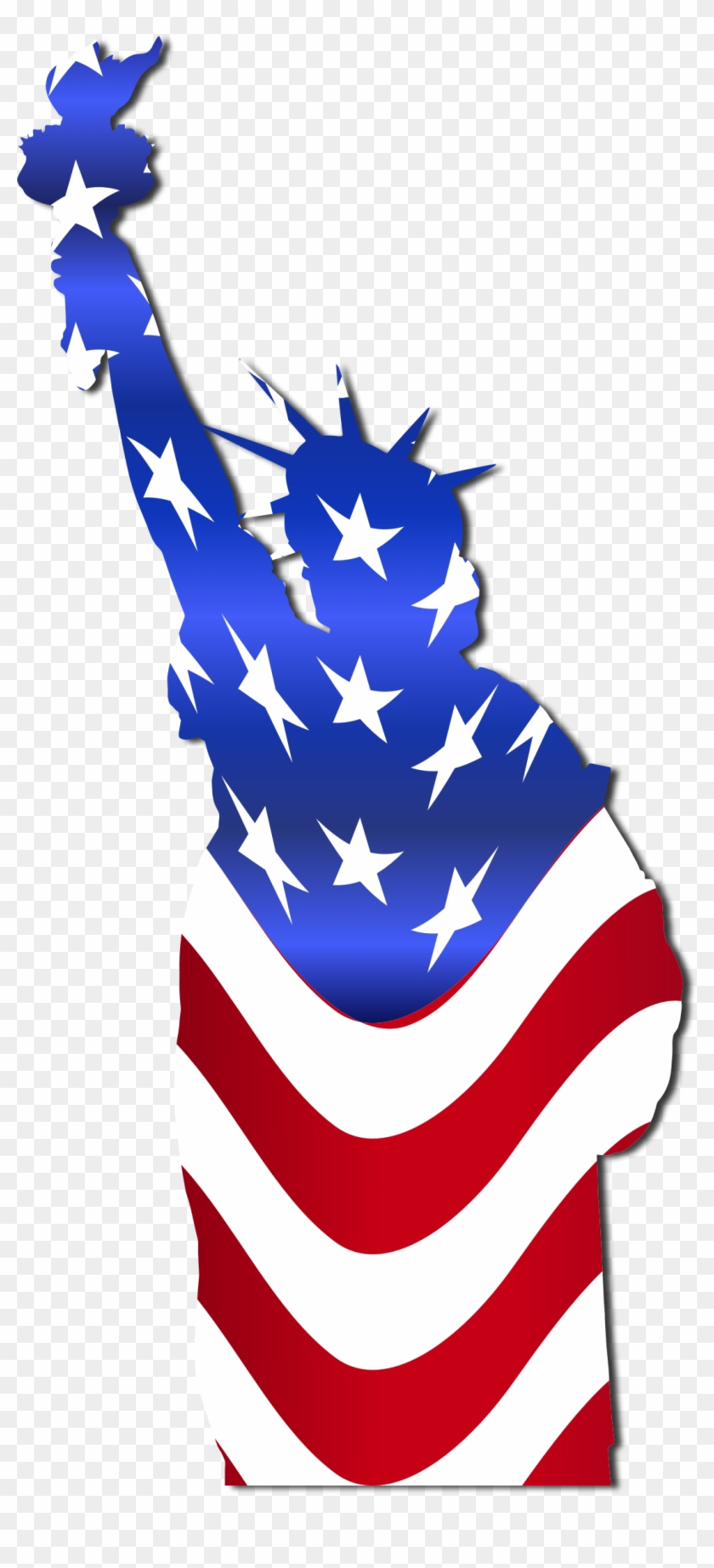Clipart - Statue Of Liberty (american Flag) Throw Blanket #80755
