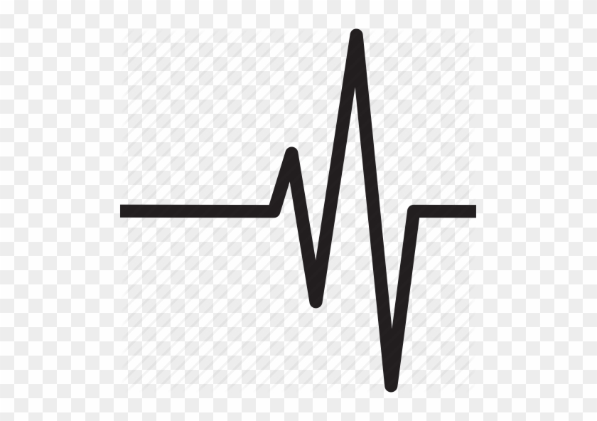Heart Rate Line Clip Art - Heart Beat Clip Art Black And White #80878
