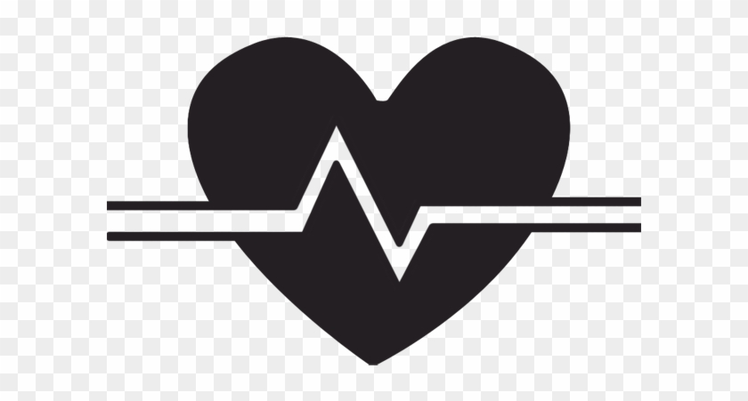 Heart Beat Clipart - Heart Rate Black And White #80902