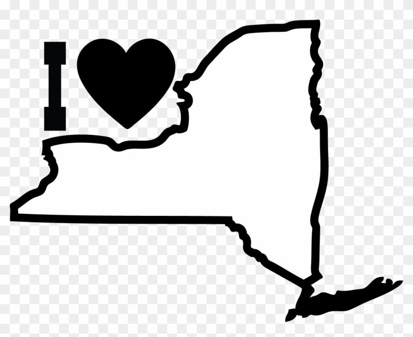 New York City Empire State Norml Bill Parole Clip Art - New York State Outline #81002