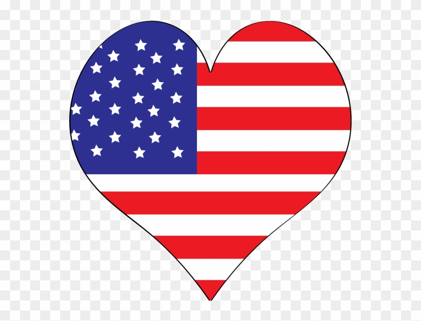 Free Labor Day Clipart To Use At Parties On Websites - American Flag Heart Clip Art #81020