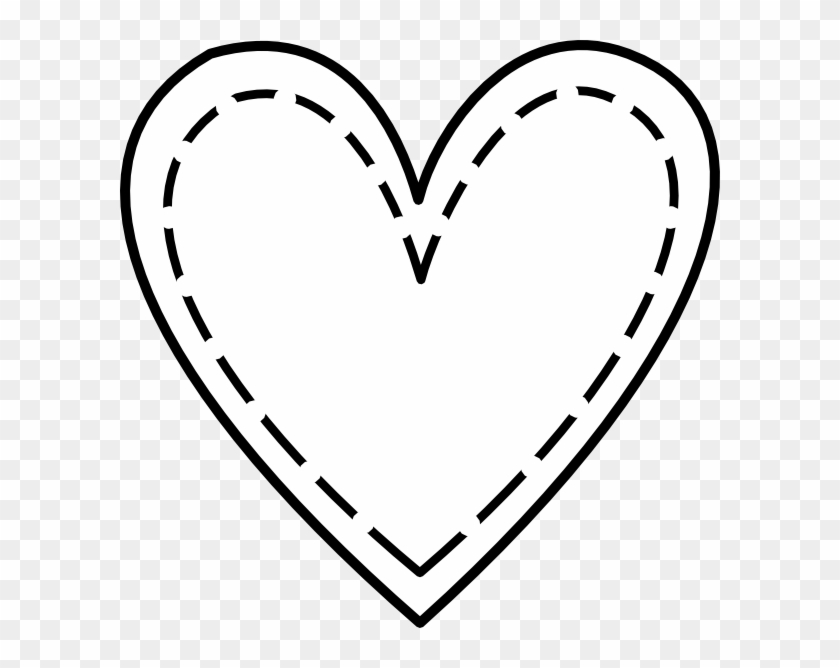 Double Heart Outline Clip Art At Vector Clip Art - Wrinkled Heart #81060