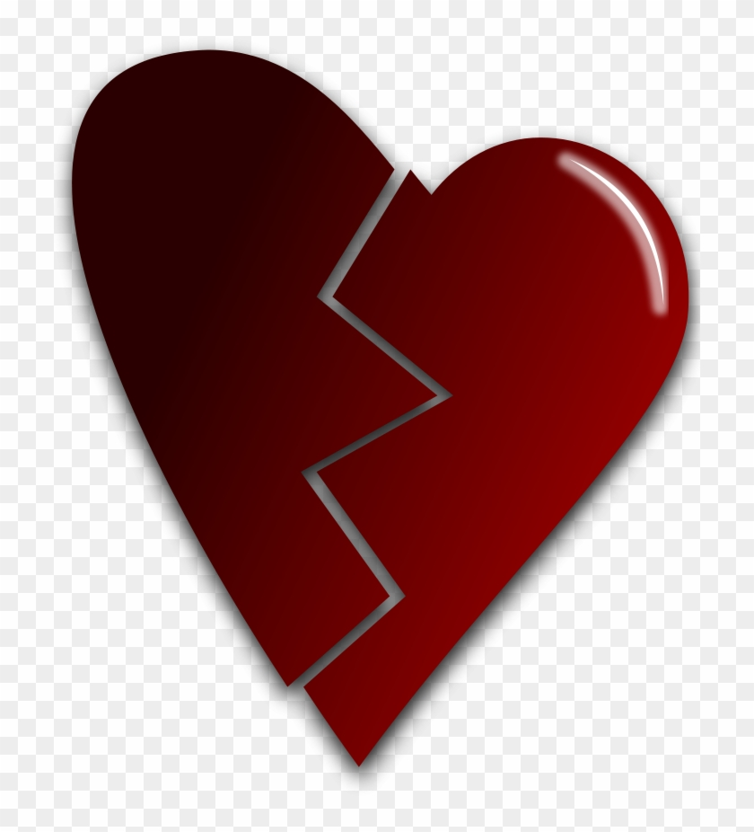 Broken Heart Vector Clipart, Vector Clip Art Online, - Broken Heart Png Vector #81141