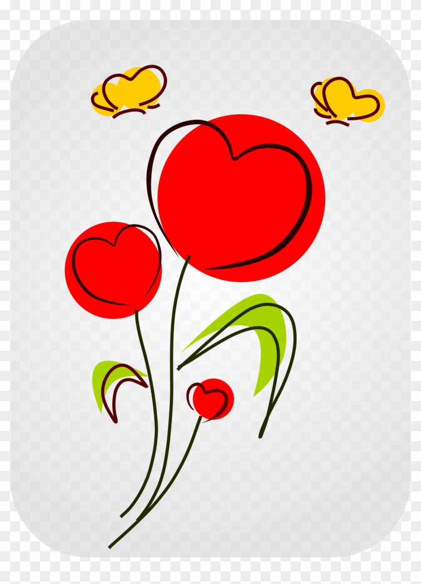 Big Image - Drawings Of Flowers And Hearts #81171