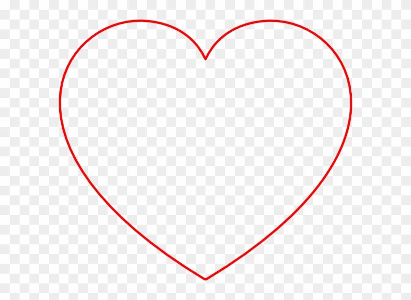 Red Heart Line Art #81189