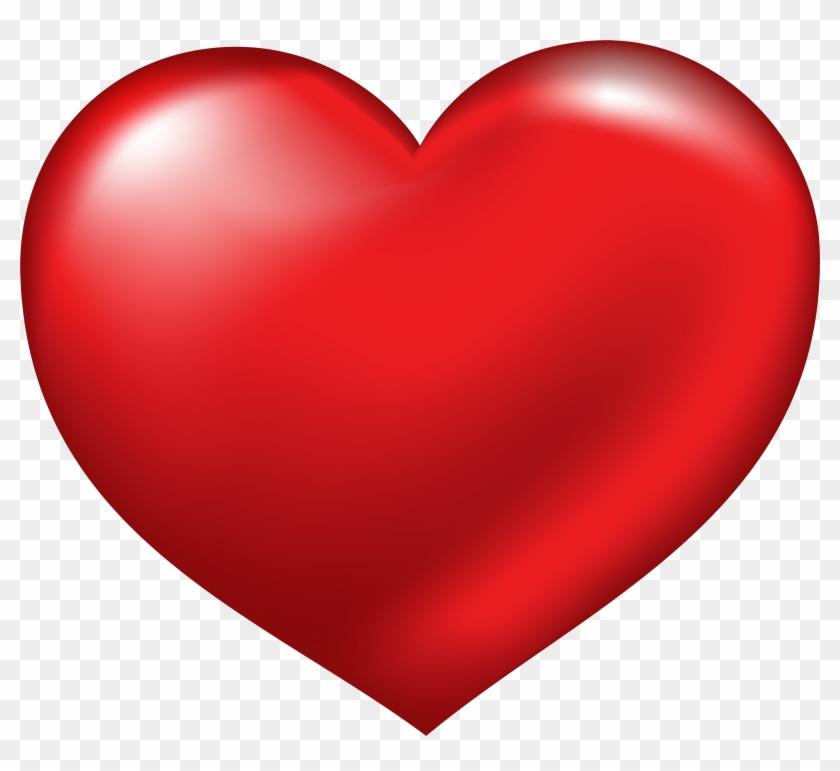Red Heart Png Clipart - Big Heart Emoji #81207