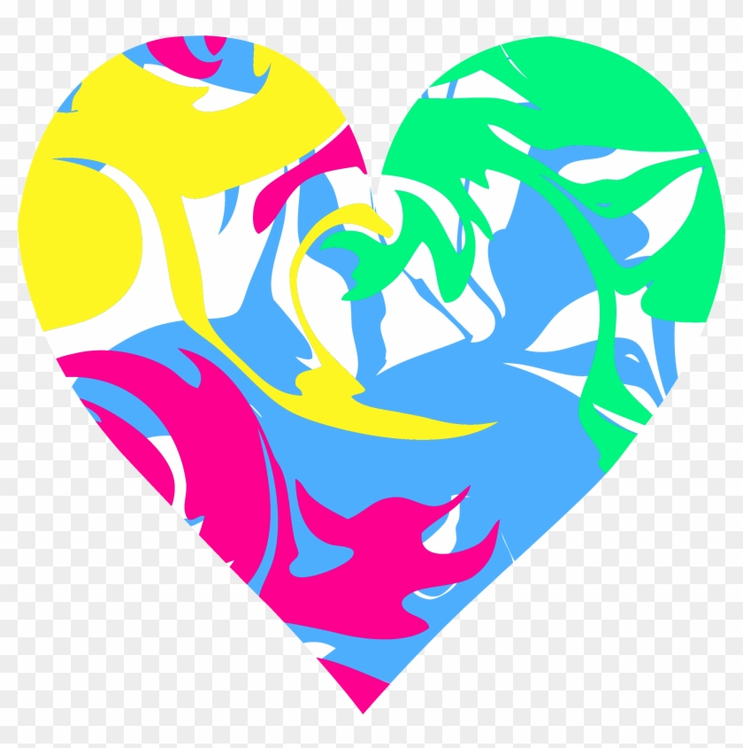 Hearts Clipart Pretty Heart - Colorful Heart Clipart #81243