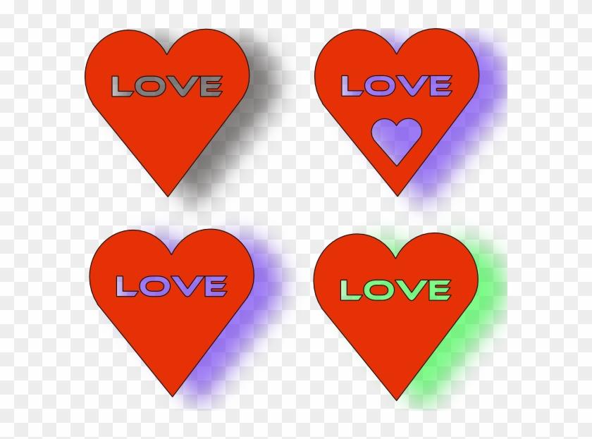 Love Hearts Shower Curtain #81596