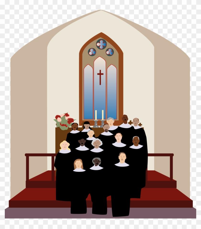 Church Art Images - Choir Singing In The Church Clipart #81714