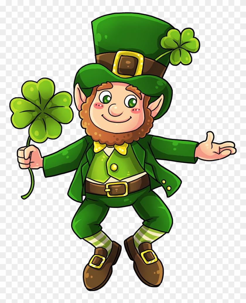 Patrick's Day - Leprechaun Four Leaf Clover #81835