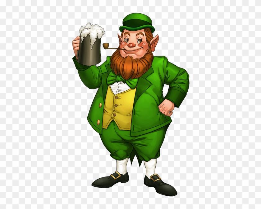 Leprechaun-lineart - St Patrick Day Transparent Leprechaun #82078