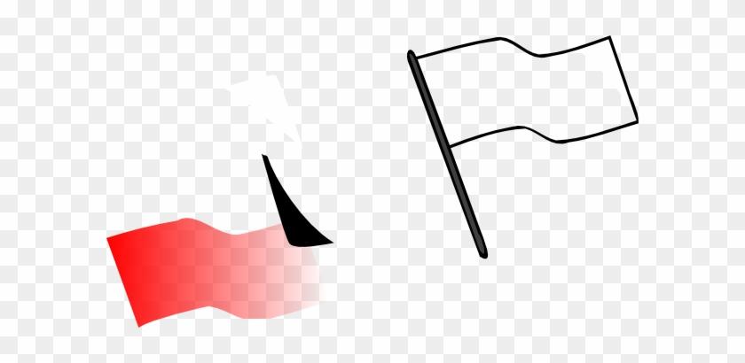 Flag Outline Clip Art At Clker - Flag Clipart Outline #82239