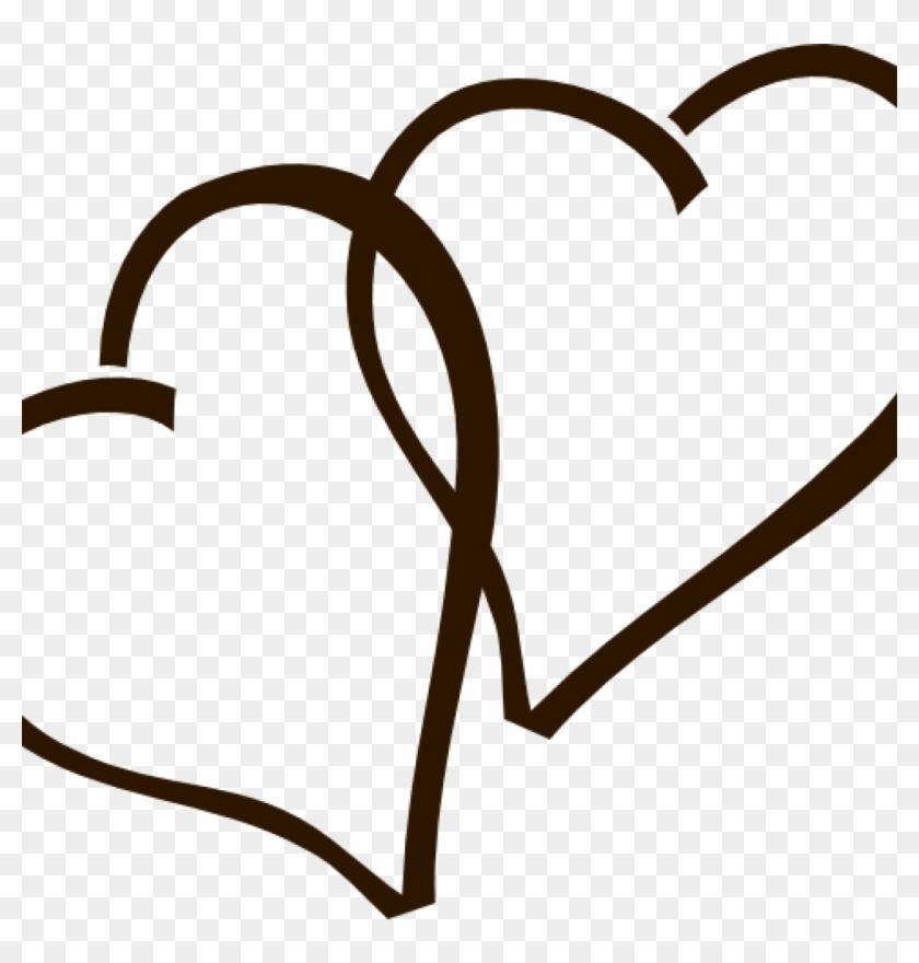 Wedding Heart Clipart Deep Brown Hearts Clip Art At - Heart Clipart #82253