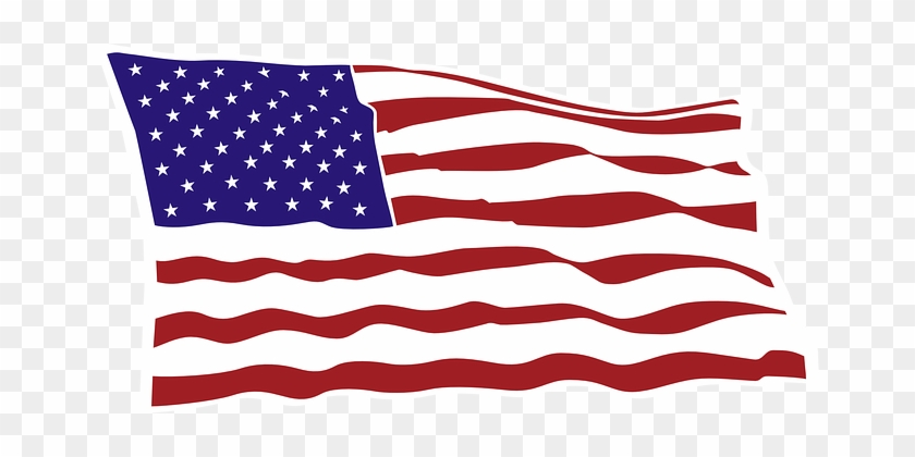 Flag, Usa, Red, Striped, Blue, Star - Us America Flag Sticker #82262