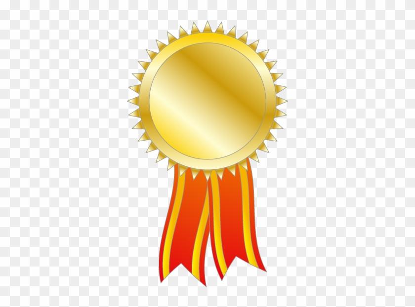 Medal Free Clipart - Gold Medal Vector Transparent #82569