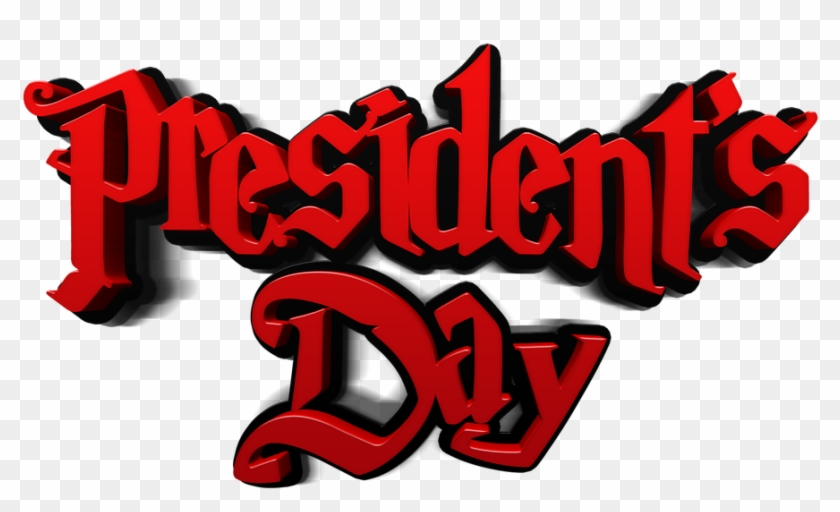 President's Day Red Usa Text Font Isolated - Presidents Day Clip Art #82720
