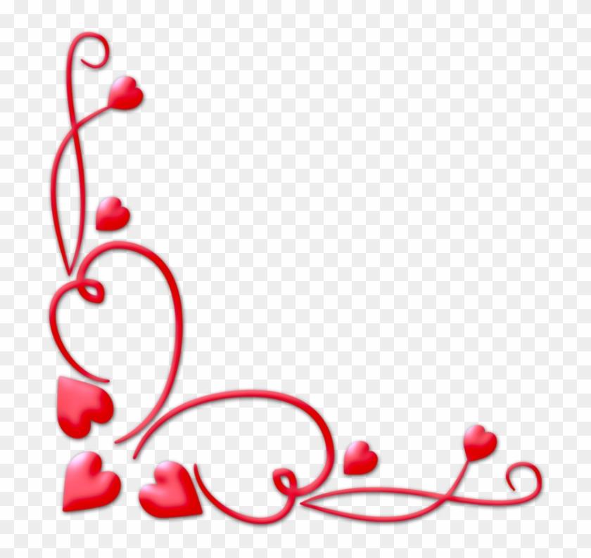 Valentines Day Border Png Download Image - Valentine Corner Png #83022
