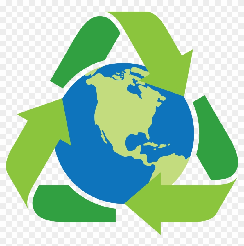 Earth Day Clip Art Square Space Recycle Symbol With Earth Free