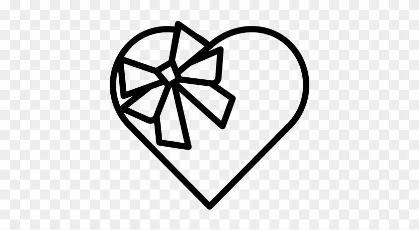 Chocolate Heart Shape Box Vector - Drawing In Chocolate Shape #83388