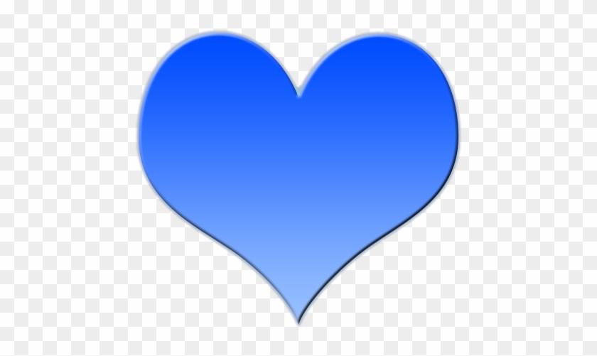 Heart-shaped Clipart Blue - Big Blue Love Heart #83450