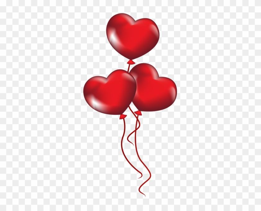 Clipart Heart Ballons Serca Balony Przezroczyste Png - Heart Balloon Transparent Background #83482