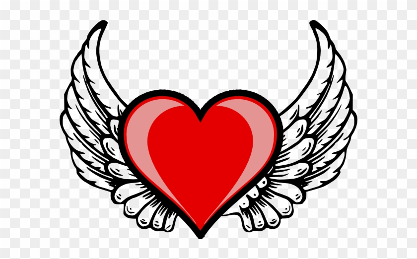 Heart Wing Logo Clip Art At Clker - Heart With Wings #83497