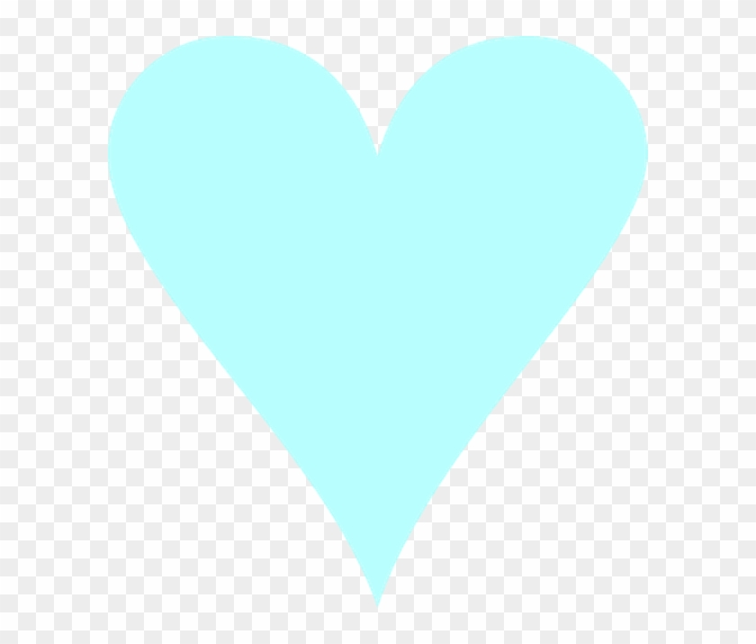 Light Blue Heart Transparent Background #83504