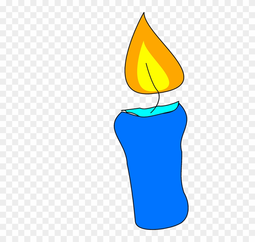 Candle Flame Wax Candle Celebration Spirituality - Cake Candle Clipart #83587
