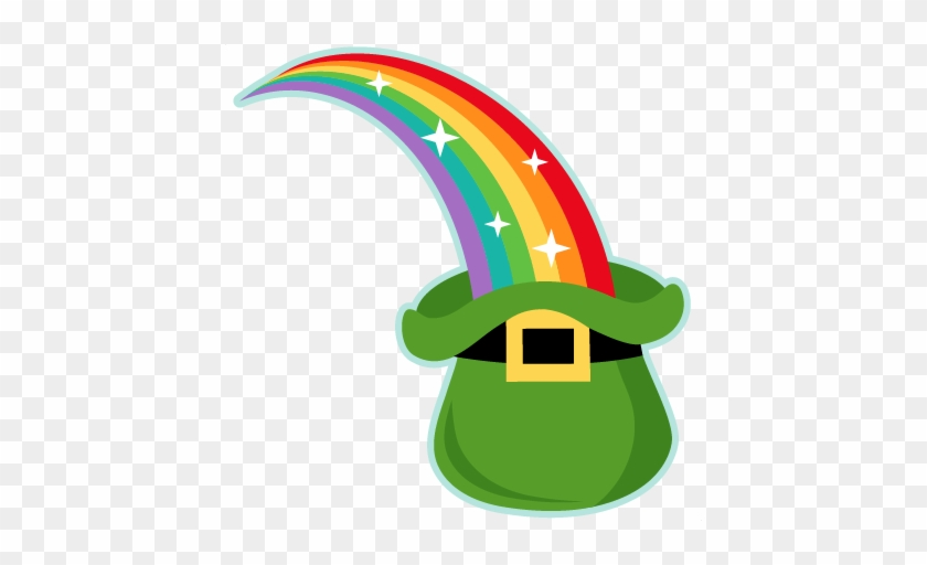 Rainbow Into Leprechaun Hat Svg Scrapbook Cut File - St Patrick's Day Rainbow #83681