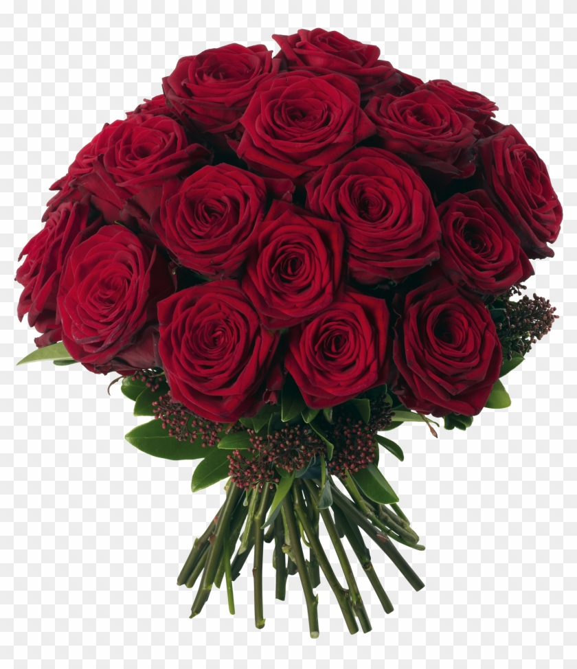 Transparent Red Roses Bouquet Png Clipart Picture - Bouquet Of 15 Red Roses #83777