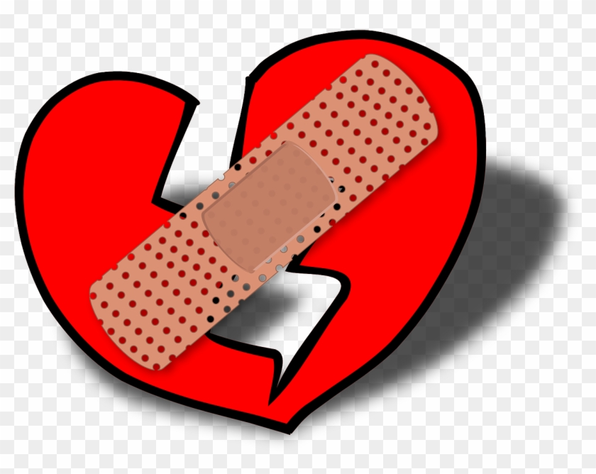 Healing Wounded Relationships - Broken Heart Clip Art #83789