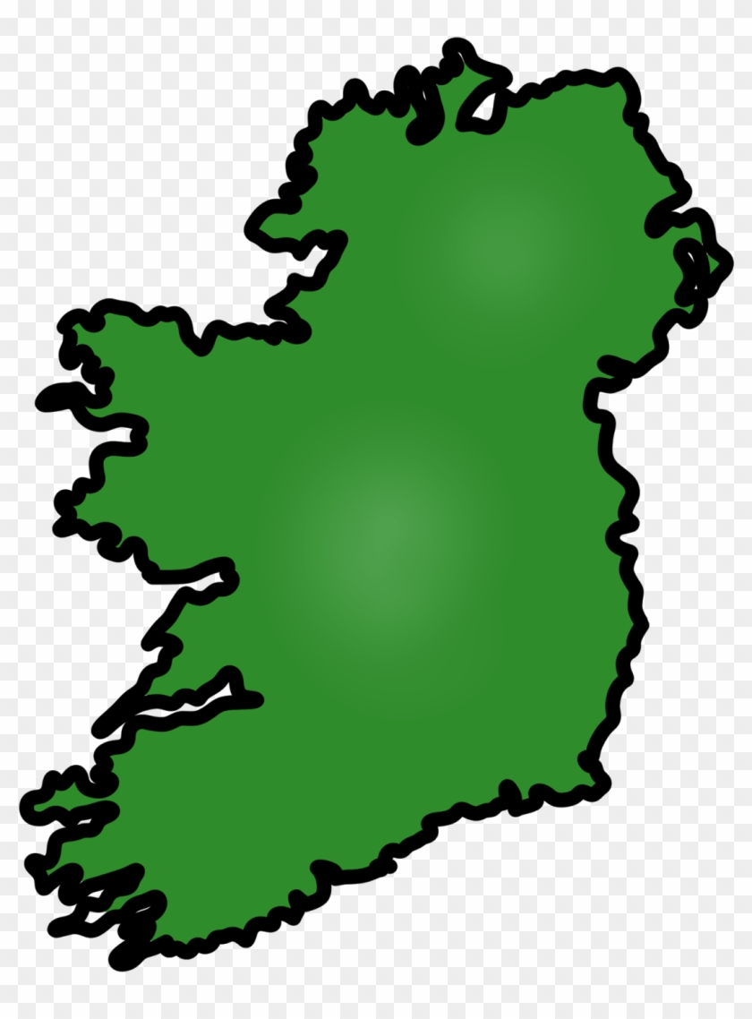 Simple Irish Map Free Cliparts That You Can Download - Ireland Clipart #83862