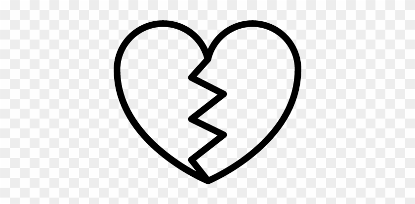 Broken Heart Free Vectors, Logos, Icons And Photos - Broken Heart Black And White #83903