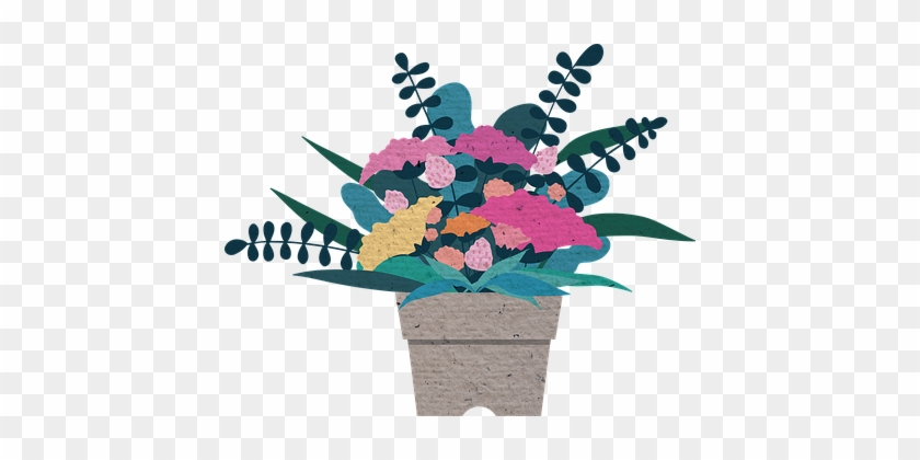 Flower Illustration Potted Plant Carnation - Happy Mothers Day Sister In Law #84067