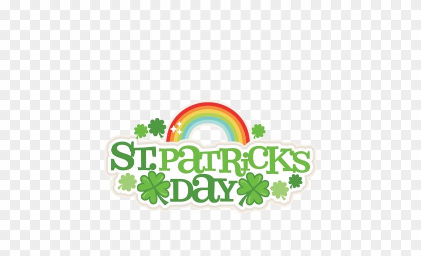 Patrick's Day Title Svg Scrapbook Cut File Cute Clipart - Cute St Patrick Clip Art #84095