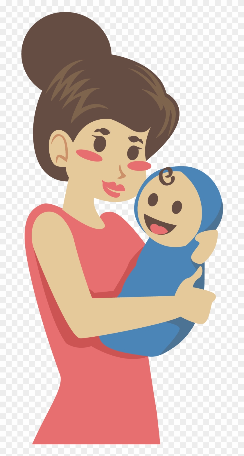 Mother Clip Art - Baby Mom Animation Png #84245