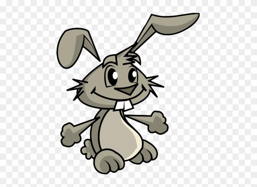 Bunny Black And White Rabbit Clipart Clipartix - Rabbit Clip Art Free #84530