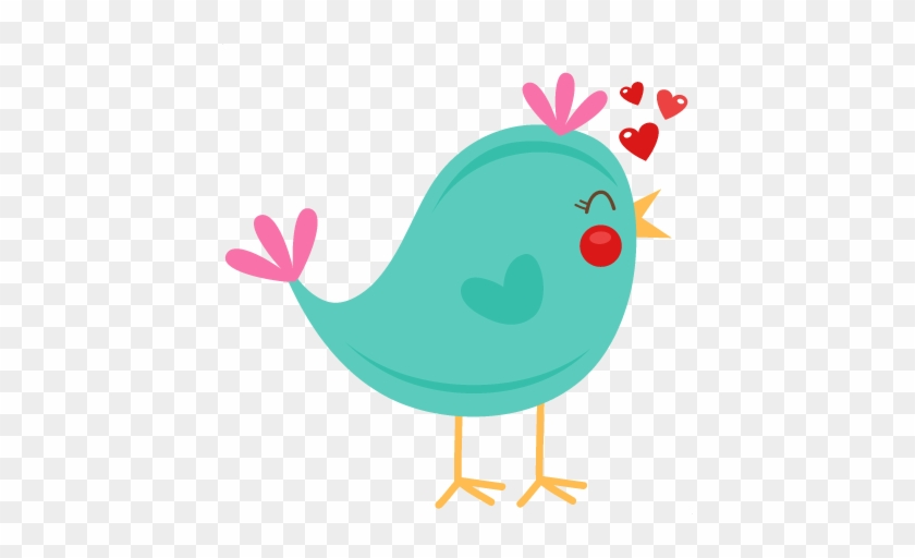 Valentine ' S Day Cute Bird Svg File Clipart - Cute Bird Silhouette Clip Art #84672