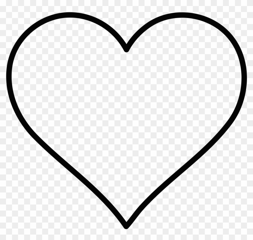 Heart Outline By Spacefem - Heart Outline Png #84677
