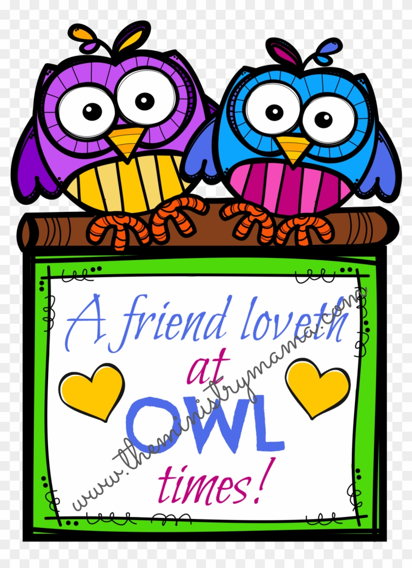 """The Owls Have Two Different Sayings, """"a Friend Loveth - Character Motivation Anchor Chart #84689"""